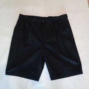 Roundtree & Yorke Tall EXPANDER WAIST Black Shorts